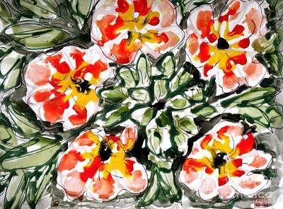 Lady Bug - Zenmoksha Flowers by Baljit Chadha