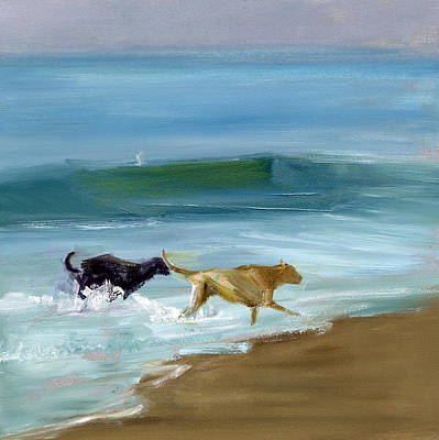 Dog Beach Painting - Rcnpaintings.com by Chris N Rohrbach