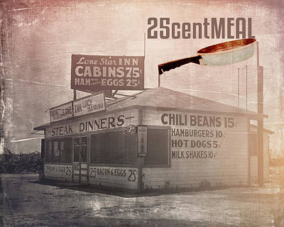 Hot Dogs Photograph - 25centmeal by Toni Hopper
