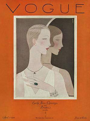 Fashion Illustration Wall Art - Photograph - A Vintage Vogue Magazine Cover Of A Woman by Eduardo Garcia Benito