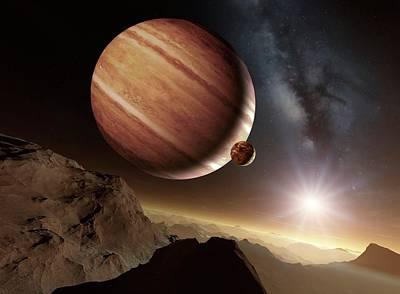 Moon Rocks Photograph - Earth-like Alien Planet by Detlev Van Ravenswaay