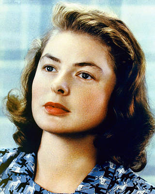 Ingrid Photograph - Ingrid Bergman by Silver Screen
