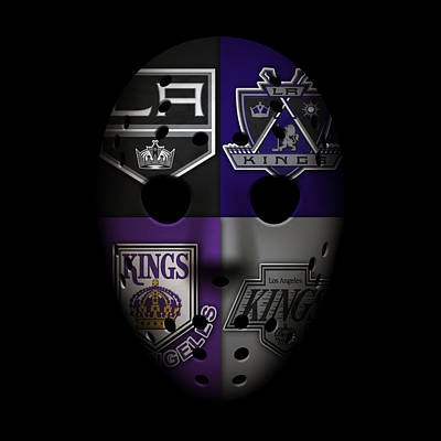 Mask Photograph - Los Angeles Kings by Joe Hamilton