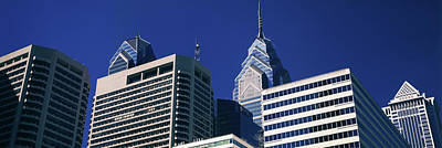 Philadelphia Skyline Photograph - Low Angle View Of Skyscrapers by Panoramic Images