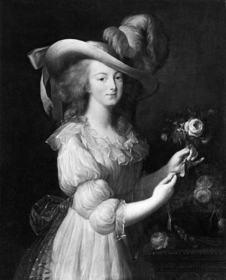 Marie Louise Painting - Marie Antoinette (1755-1793) by Granger