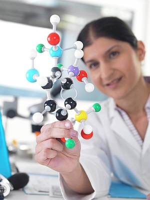 Healthcare And Medicine Photograph - Molecular Model by Tek Image