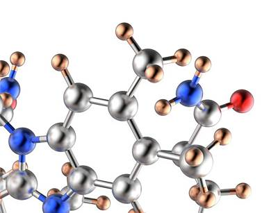 Atom Photograph - Molecule by Alfred Pasieka