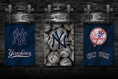 Glove Photograph - New York Yankees by Joe Hamilton
