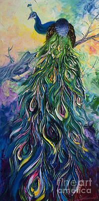 Peacock Art Print by Willson Lau
