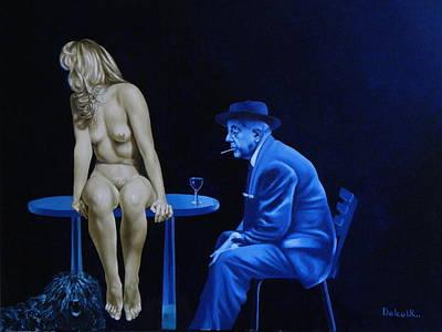 Sans Paroles Art Print by Roland Delcol