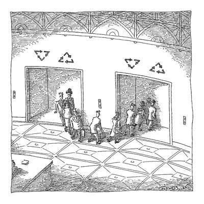 Waste Drawing - New Yorker May 18th, 2009 by John O'Brien
