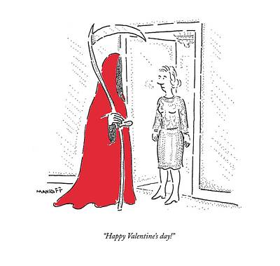 November 26th Drawing - Happy Valentine's Day! by Robert Mankoff