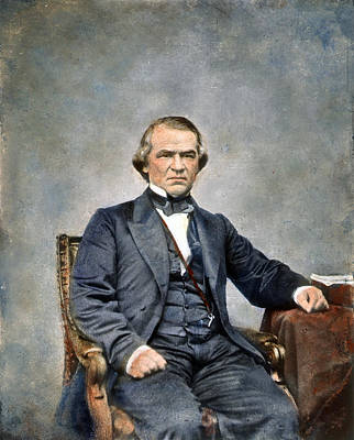 Photograph - Andrew Johnson (1808-1875) by Granger