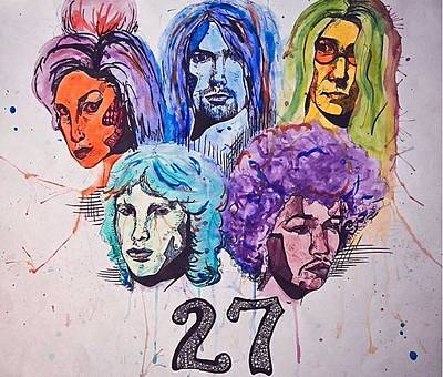 27 Club Drawing - 27 Club by Becca Ainley