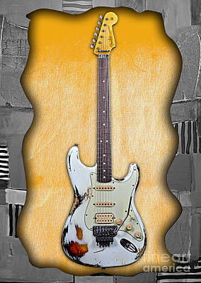 Fender Stratocaster Mixed Media - Fender Stratocaster Collection by Marvin Blaine