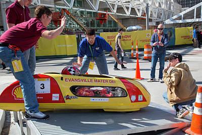 Driving Machine Photograph - Fuel-efficient Vehicle Competition by Jim West