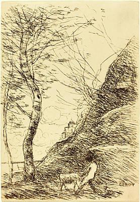 Jean-baptiste-camille Corot, French 1796-1875 Art Print
