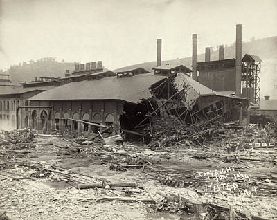 Cambria Photograph - Johnstown Flood, 1889 by Granger