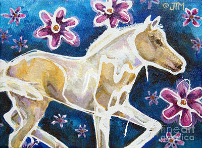 Palomino Foal Painting - #27 June 18th by Jonelle T McCoy
