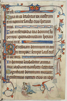 Luttrell Psalter Print by British Library