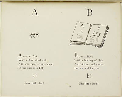 Nonsense Alphabets By Edward Lear Print by British Library