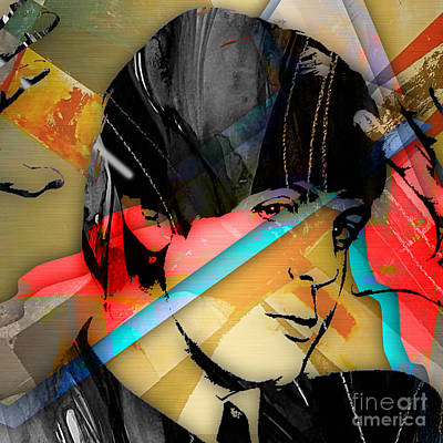 At Poster Mixed Media - Paul Mccartney Collection by Marvin Blaine
