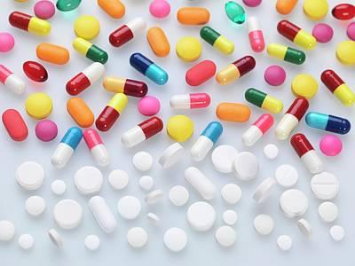 Pills Print by Tek Image