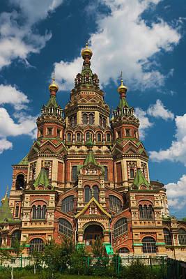 Saint Petersburg Photograph - Russia, Saint Petersburg, Peterhof by Walter Bibikow