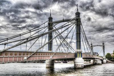 Black And White Horse Photography - The Albert Bridge London by David Pyatt