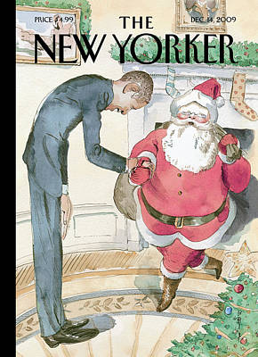 President Painting - New Yorker December 14th, 2009 by Barry Blitt