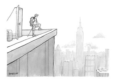 Hike Drawing - New Yorker August 1st, 2005 by Jason Patterson
