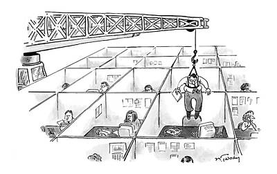 Crane Drawing - New Yorker November 28th, 2005 by Mike Twohy