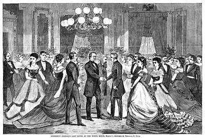 Ballroom Painting - Andrew Johnson (1808-1875) by Granger
