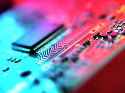 Circuit Photograph - Circuit Board by Tek Image
