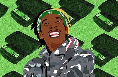 Wiz Khalifa Digital Art - 28 Gramz by Rvrx Spxcix