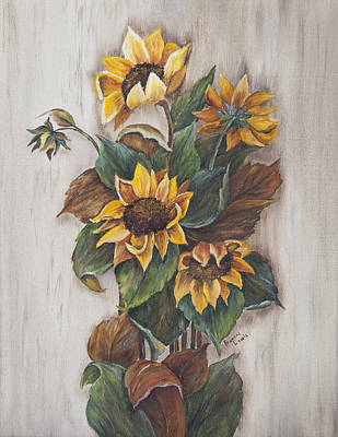 Painting - Sunflowers by Frances Lewis