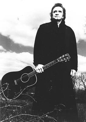 Line Photograph - Johnny Cash by Retro Images Archive