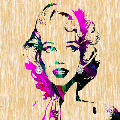 Mixed Media - Marilyn Monroe Diamond Earring Collection by Marvin Blaine