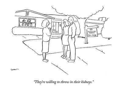 Buyer Drawing - They're Willing To Throw In Their Kidneys by Michael Shaw