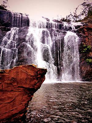 Wall Hanging Photograph - Waterfalls by Girish J