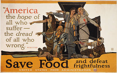 American Food Painting - World War I U by Granger