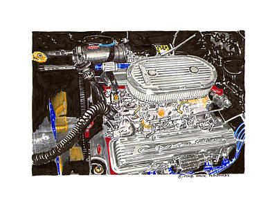 Motor Boats Painting - 283 Cubic Inches Of Corvette Power by Jack Pumphrey