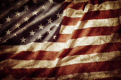 Pride Photograph - American Flag by Les Cunliffe