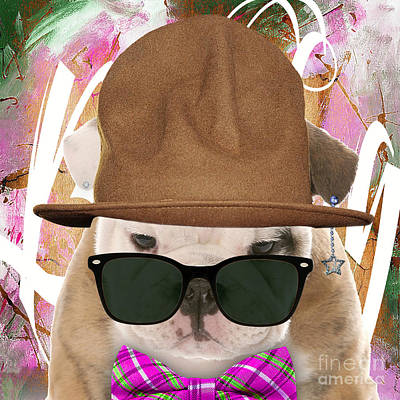 Dog Mixed Media - Bulldog Collection by Marvin Blaine