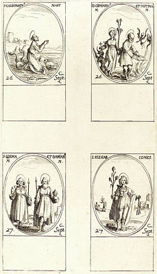 Damian Drawing - Jacques Callot, French 1592-1635 by Litz Collection