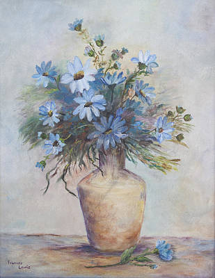 Painting - Daisy Blue by Frances Lewis