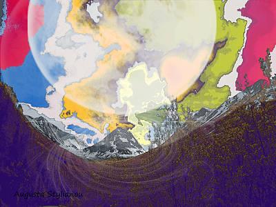 Digital Art - Space Landscape by Augusta Stylianou