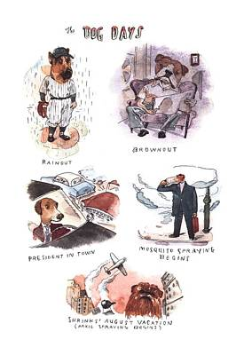 Barry Blitt Drawing - New Yorker August 14th, 2000 by Barry Blitt