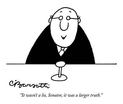 It Wasn't A Lie Art Print by Charles Barsotti