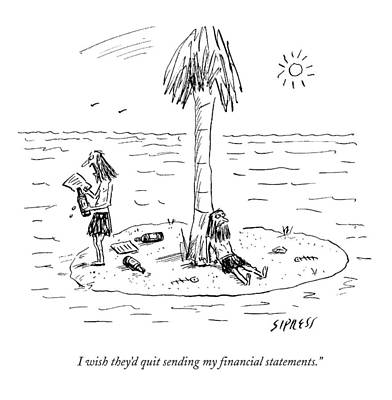 I Wish They'd Quit Sending My Financial Art Print